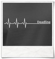 Deadline Langarm Männer T-Shirt / Grey / Fair und Bio