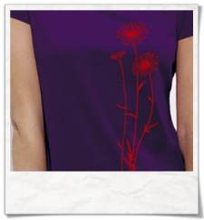 Flowers / women T-Shirt / Violet / Fair and Organic
