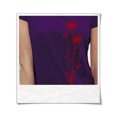 Flowers / women T-Shirt / Violet / Fair and Organic