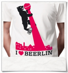 I love BE(E)RLIN :) men T-Shirt / White / Fair Organic and Eco
