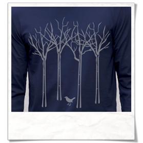 Vogel im Wald Langarm T-Shirt