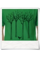 Men's T-hirt The bird in the forest Fair, Eco & Organic