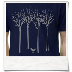 The bird in the forest T-Shirt / Navy