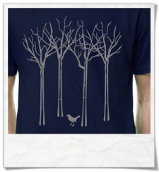 The bird in the forest / men T-Shirt / Navy / Fair and Organic
