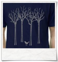 Vogel im Wald T-Shirt / Dunkelblau