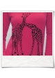 Giraffe in love / women Sweatshirt / Fuchsia / Fair and Organic