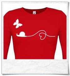 Schnecke und Schmetterling Langarm T-Shirt