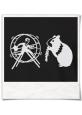 T-Shirt für Herren Hamster und der Hamsterrad in Schwarz