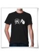 Hamster / Hamsterwheel / men T-Shirt / Black / Fair Organic and Eco