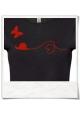 Schnecke und Schmetterling / Frauen T-Shirt / Schwarz / Fair Wear