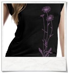 Blumen / Frauen T-Shirt / Schwarz / Fair Wear