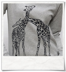 Giaffe / Giraffen / Damen Frauen Sweatshirt Grau / Fair trade & Bio
