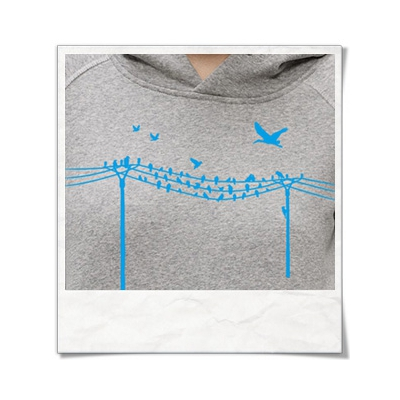 Birds & Wire / women Hoodie / Grey / Fair and Organic