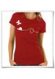 Liebe zwische Schnecke und Schmetterling / Frauen T-Shirt / Rot / Fair Bio und Öko