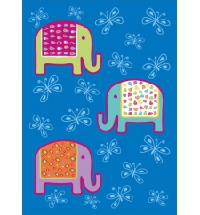 Bunte Elefanten / Postkarte