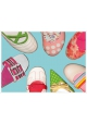 Bunte Schuhe / Postkarte