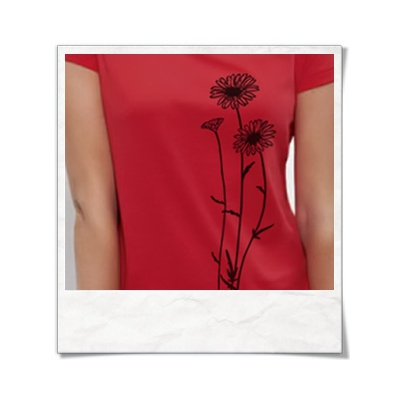 Flowers / women T-Shirt / Red / Fair and Organic