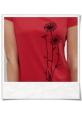 Blumen T-Shirt / Rot