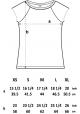 Größentabelle / Blumen / Frauen T-Shirt / Blau / Fair und Bio