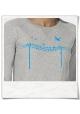 Vögel auf einem Elektromast / Sweatshirt / Grau / Fair und Bio