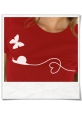 Snail and Butterfly in love T-Shirt / Darkred