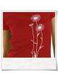 Blumen T-Shirt in Rot & Weiss aus Biobaumwolle
