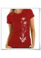 Blumen Frauen T-Shirt in Rot / Fair Bio und Öko