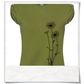Flowers T-Shirt / Green