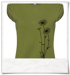 Flowers T-Shirt women T-Shirt / Green / Fair Wear
