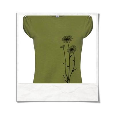 Blumen / Frauen T-Shirt / Grün / Fair Wear