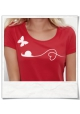 Snail and Butterfly in Love / women T-Shirt / Red / Fair and Organic