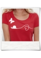 Snail and Butterfly in love T-Shirt / Red