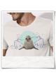 Robbe / Seehund / Männer T-Shirt / Weiss / Fair Bio und Öko