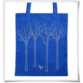 Tote bag / The bird in the forest / Blue