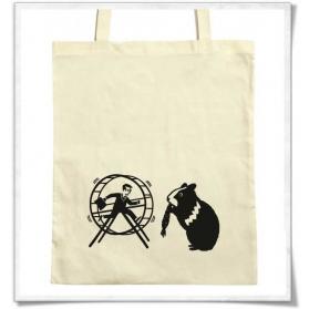 Baumwolltasche Hamster HamHam & der Hamsterrad
