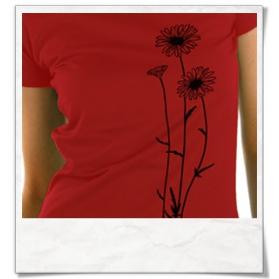 Flowers T-Shirt / Darkred