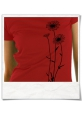 Flowers T-Shirt / Darkred