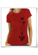 Flowers / women T-Shirt / Red / Fair Organic and Eco