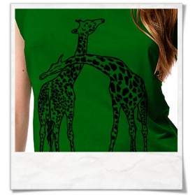 Frauen T-Shirt Giraffe / Giraffen aus Bambus & Fair hergestellt