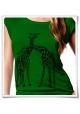 Giraffe / Giraffen / Frauen Damen T-Shirt / Grün / Bio & Fair