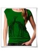Giraffe / Giraffen / Frauen Damen Bambus T-Shirt / Fair und Bio in Grün