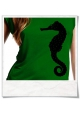 Seahorse / women T-Shirt / Green / Fair and Organic