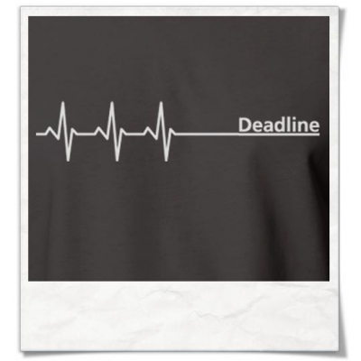 Deadline ;) men T-Shirt / Grey / Fair Organic and Eco