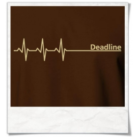 Deadline T-Shirt in braun