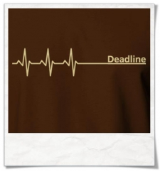 Deadline ;) men T-Shirt / Brown / Fair Organic and Eco