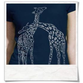 Giraffe / Giraffen T-Shirt in Navy