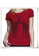 Giraffe / Women T-Shirt / Love / Red / Fair
