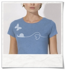 Snail and Butterfly women T-Shirt