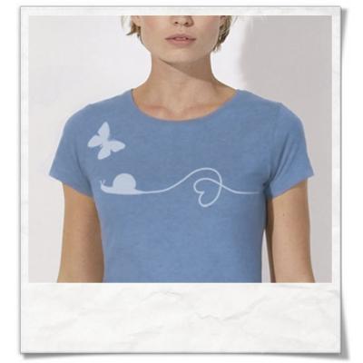 Schnecke & Schmetterling Damen T-Shirt
