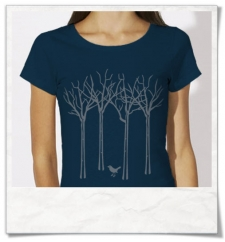 The bird in the forest women T-Shirt / Navy